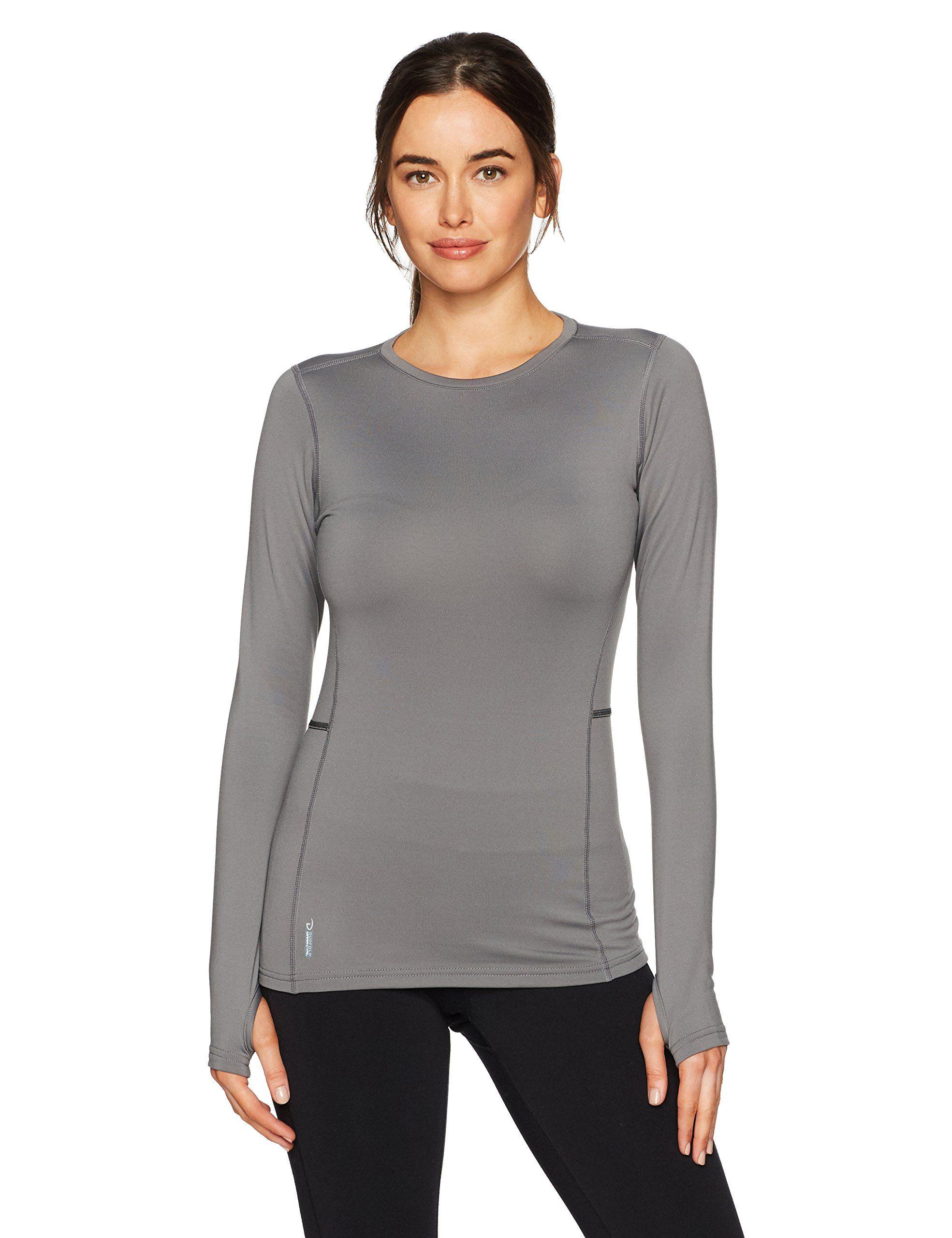 311d64985b4b Duofold Women's Mid Weight Fleece Lined Thermal Shirt, Thundering Gray,  Medium. X-