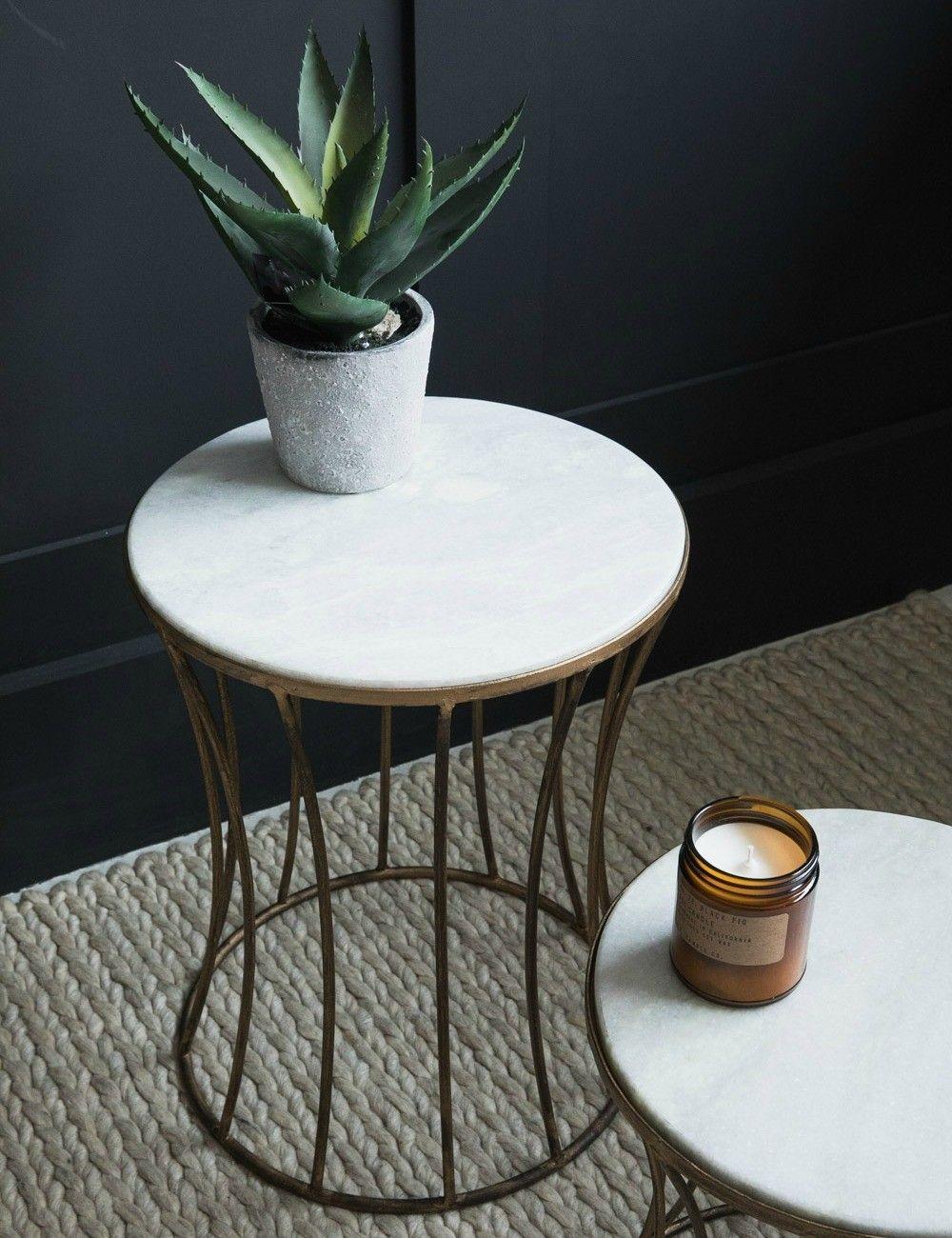 Park Art My WordPress Blog_White Marble Drum Coffee Table