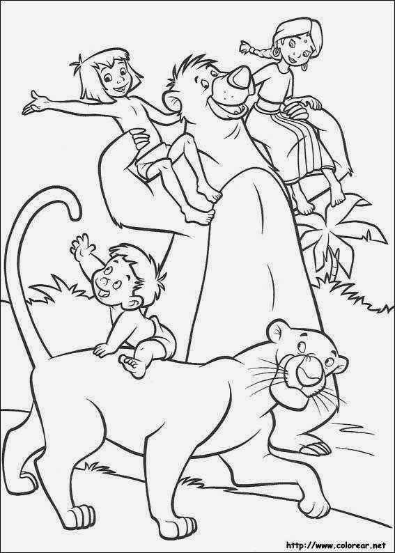 Maestra De Primaria El Libro De La Selva Dibujos Para