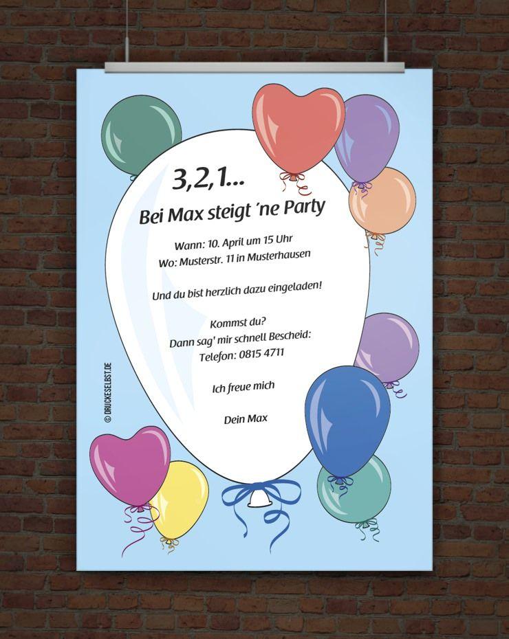 einladung geburtstagsparty | free printables | pinterest, Einladung