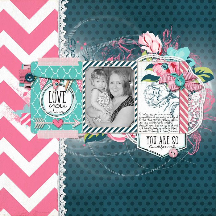 #scrapbook page by Trace at #designerdigitals