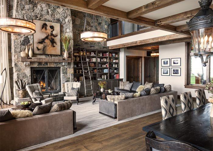 Una casa de estilo r stico chic junto al lago tahoe a - Decoracion rustico chic ...