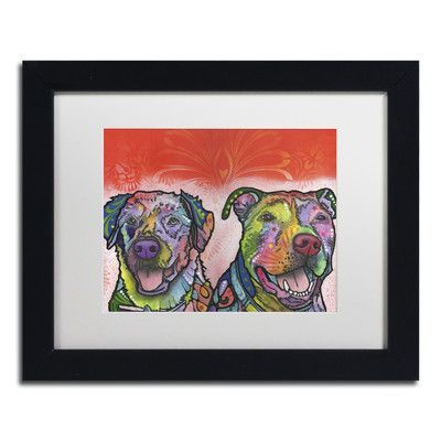 """Trademark Art """"Bonner Brinson"""" by Dean Russo Matted Framed Painting Print Size: 1"""