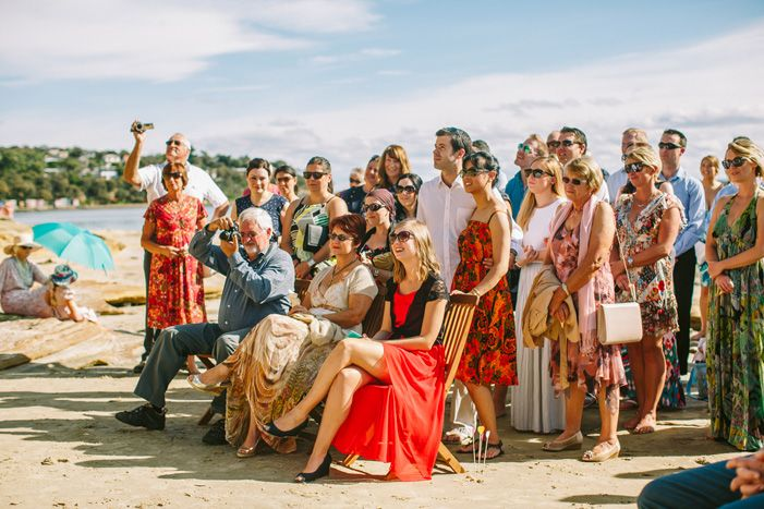 Wedding Guests at beach wedding | itakeyou.co.uk