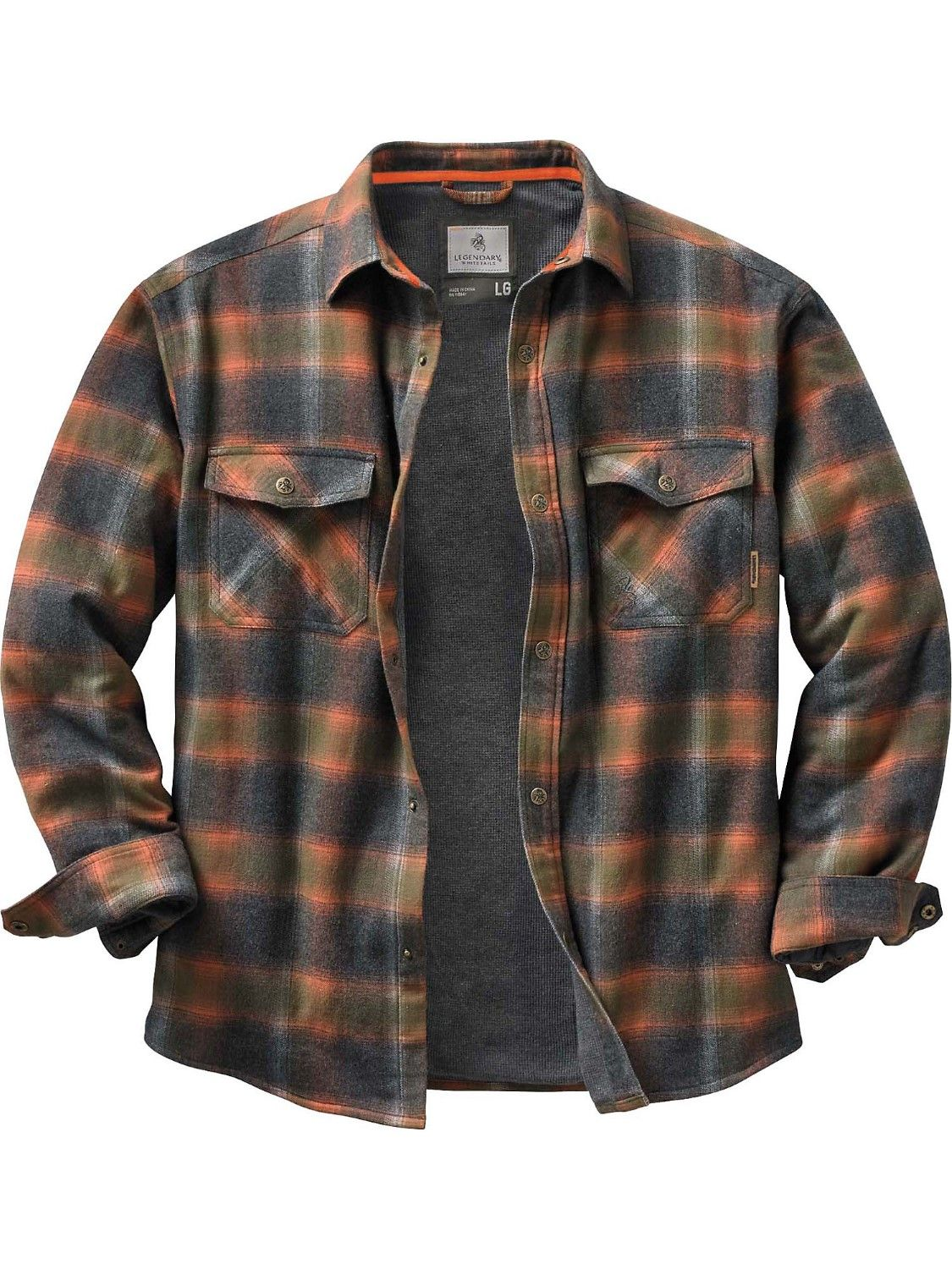 Flannel shirt with suit  Legendary Whitetails Menus Archer Thermal Lined Flannel Shirt Jacket