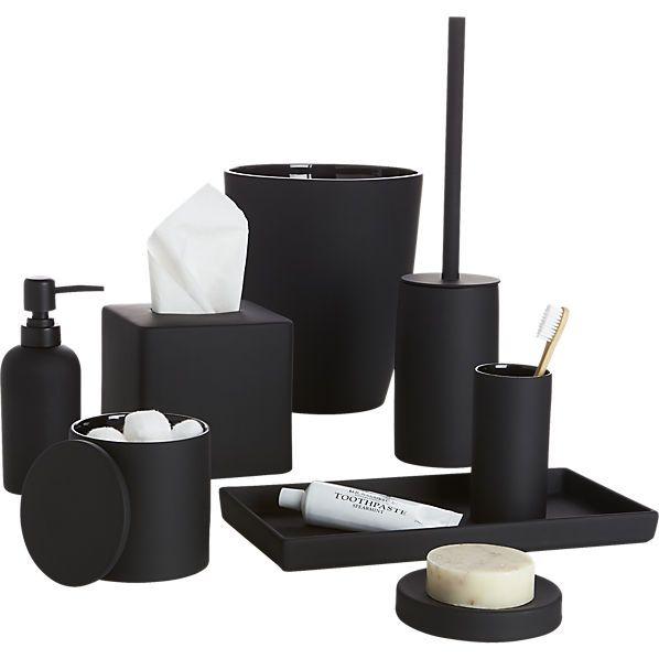 Bathroom Accessories Black rubber coated black bath accessories | bath accessories, bath and