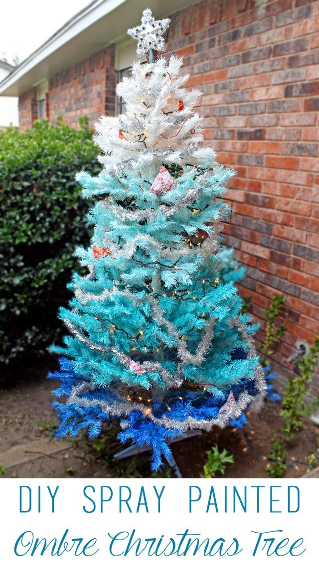 DIY Spray Painted Ombre Christmas Tree ~ tutorial | Christmas ...