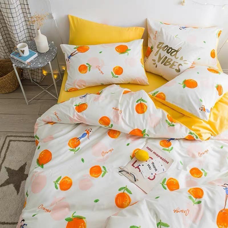 Cute Orange Bedding Set Aesthetic Bedroom Cute Bed Sets Bedroom Design