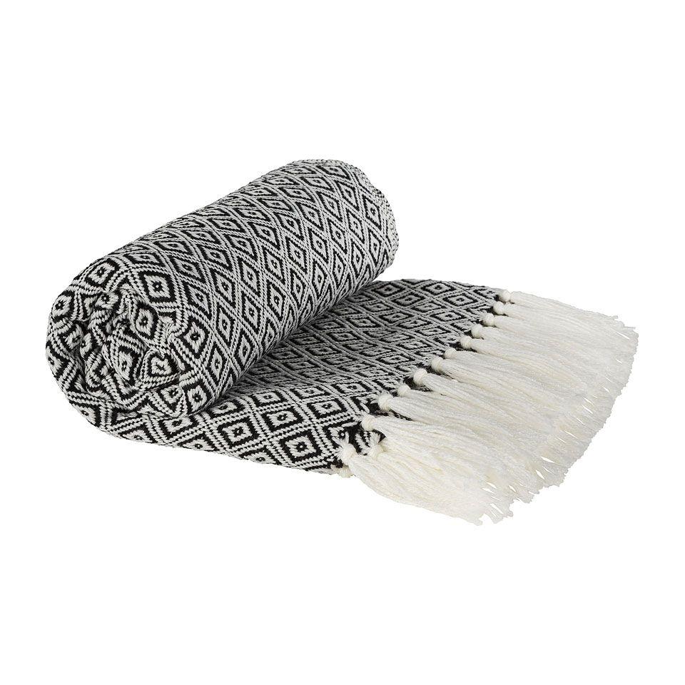 Xenos Fleece Plaid.Plaid Zwart Wit 130x160 Cm Xenos Decoratie Zwart Wit