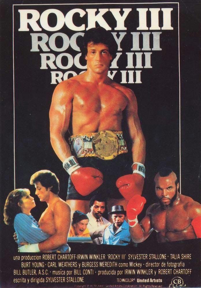 El Senor De Los Bloguinos Rocky 3 1982 De Sylvester Stallone Sylvester Stallone Carteleras De Cine Rocky Peliculas