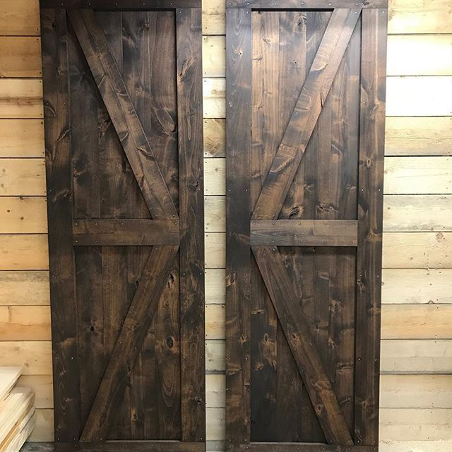 We Are Loving This Pair Of Knotty Alder Barn Doors Stained With Minwax Espresso Tall