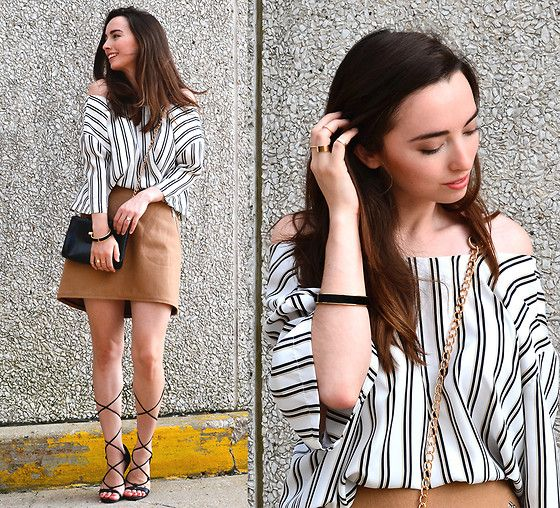 Get this look: http://lb.nu/look/7750816  More looks by Carissa G.: http://lb.nu/classicallycarissa  Items in this look:  Gap Skirt, Bakers Shoes, Notations Top, Forever 21 Rings   #chic #classic #street #black #white #summer #fall #effortless #romantic