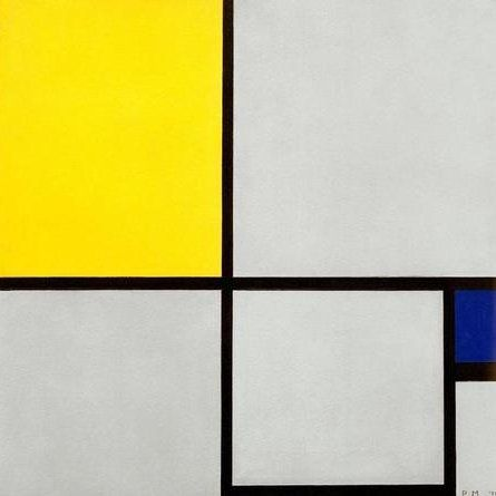 Mondrian / Composition No. II / 1929 #Piet #Mondrian #weewado #piet #mondrian #geometry #abstract #art
