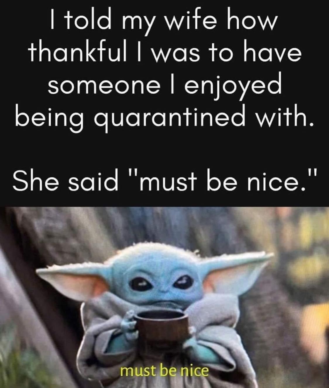 Baby Yoda Be Nice Yoda Funny Yoda Meme Humor