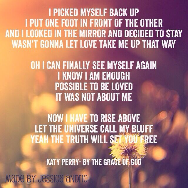 Love This Song! By The Grace Of God-Katy Perry