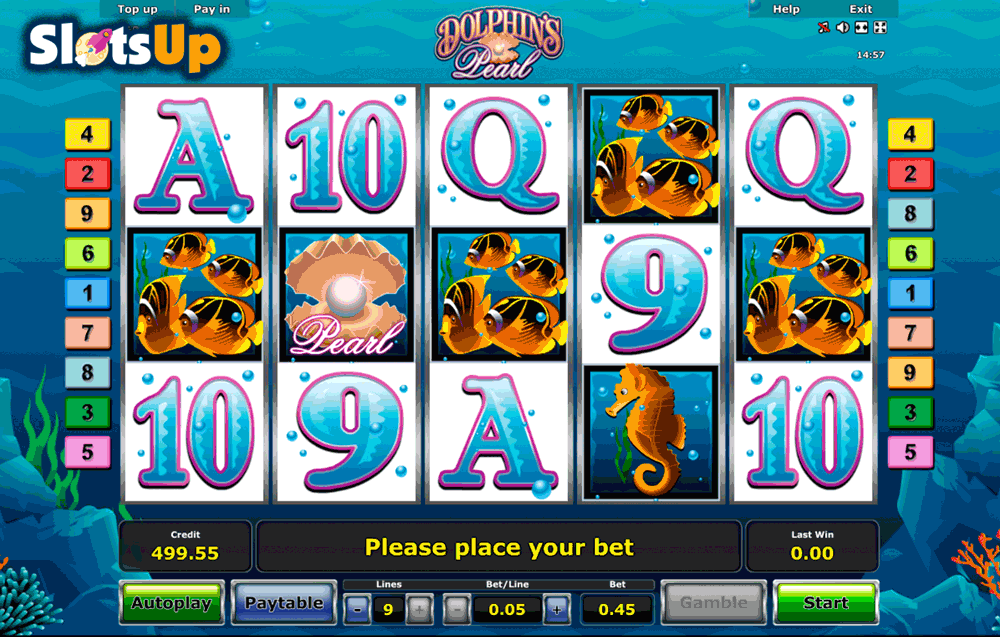 Dolphin's Pearl Slot by Novomatic Play FREE at SlotsUp! in