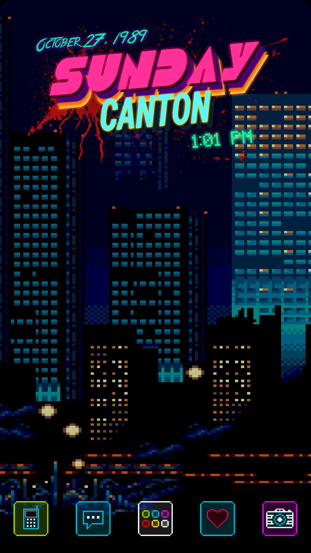 [Beginner] 1989 (Hotline Miami Theme) Обои, Разное, Фан арт