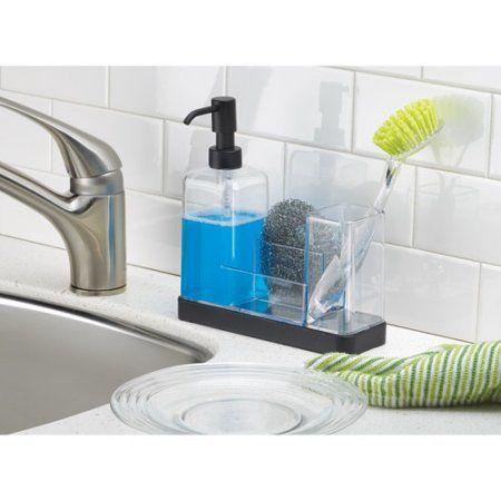 Interdesign Forma Soap Dispenser Pump And Sponge Caddy Organizer Walmart Com Kitchen Soap Dispenser Soap Dispenser Soap Pump Dispenser