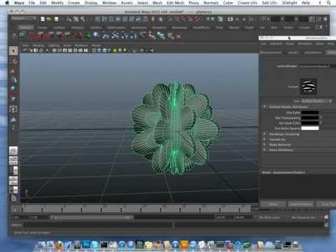 qDisplacement Deformer for Maya Displays Live Displacements