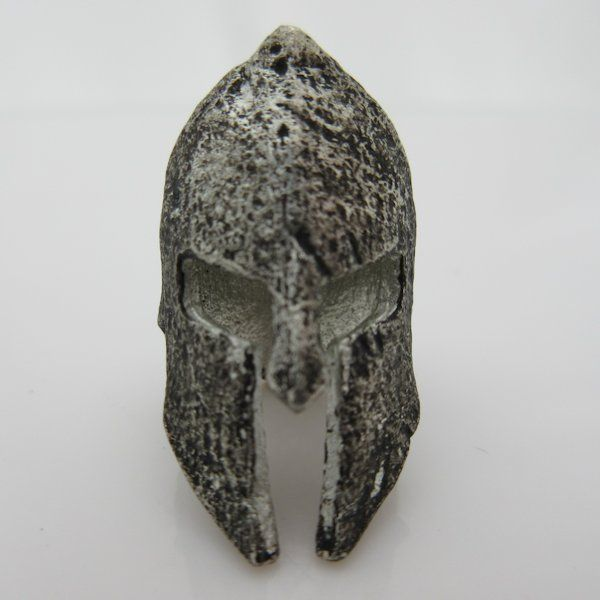 spartan helmet bead in pewter by marco magallona 17 50