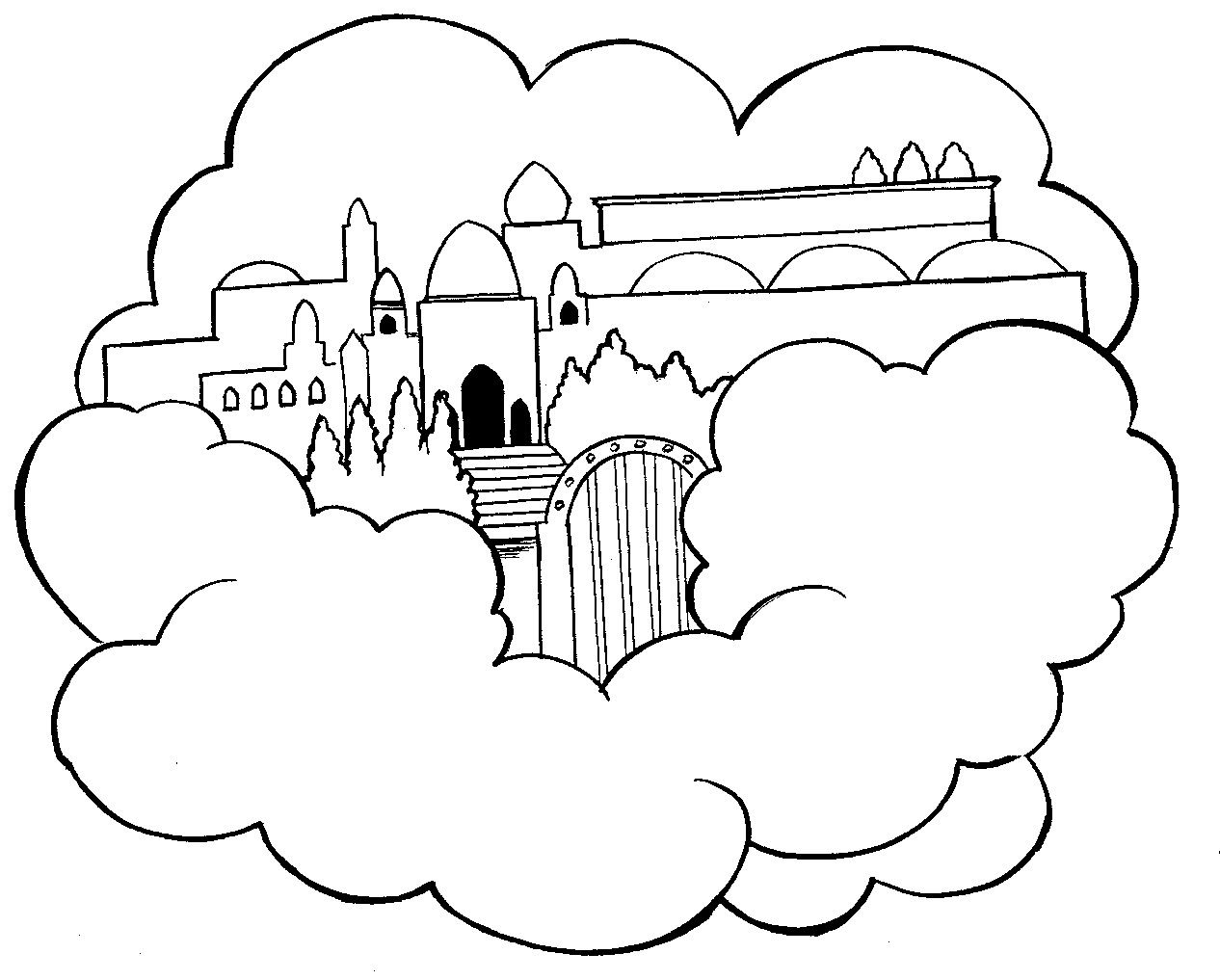 Heaven Colouring Pages Page 2