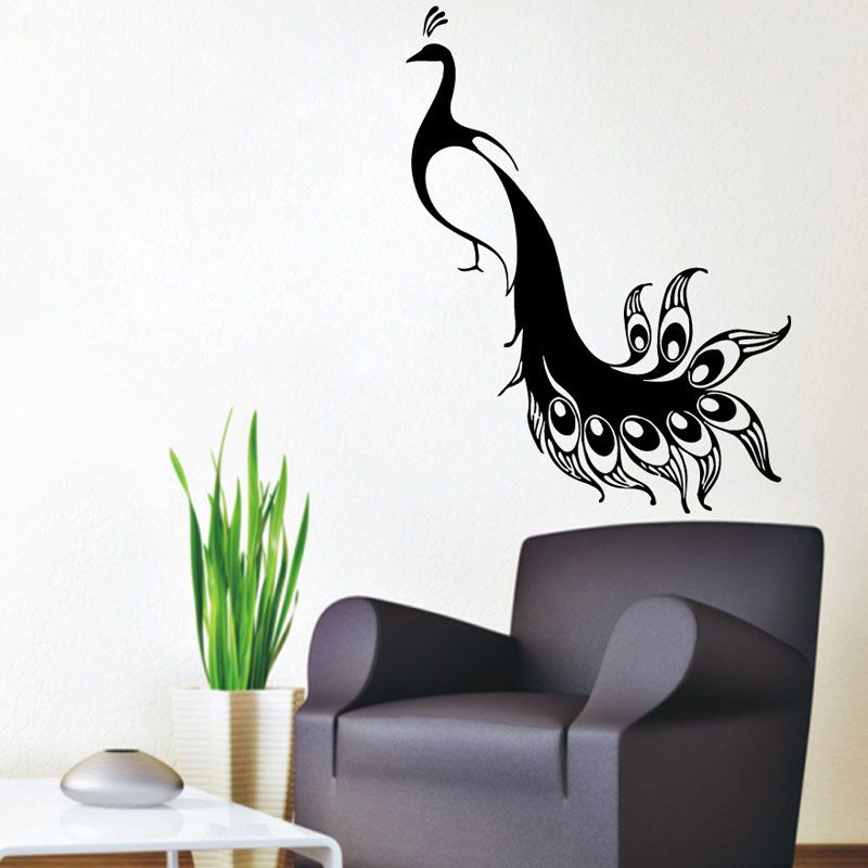 Genial Peacock Wall Decals Bird Stickers Pets Birds Animals Vinyl Decal Sticker  Living Room Decor Home Art Mural Kids Room Interior Design By  WallDecalswithLove On ...