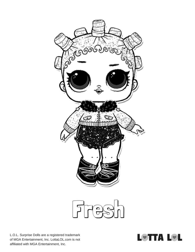 Fresh Glitter Coloring Page Coloring Pages Lol Dolls Kids Printable Coloring Pages