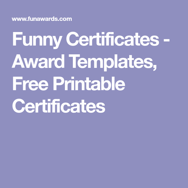 free printable funny certificate templates - Free Printable Funny Certificate Templates
