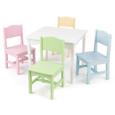 Phenomenal Kidkraft Nantucket Table And 4 Chairs Pastel Chair Gmtry Best Dining Table And Chair Ideas Images Gmtryco