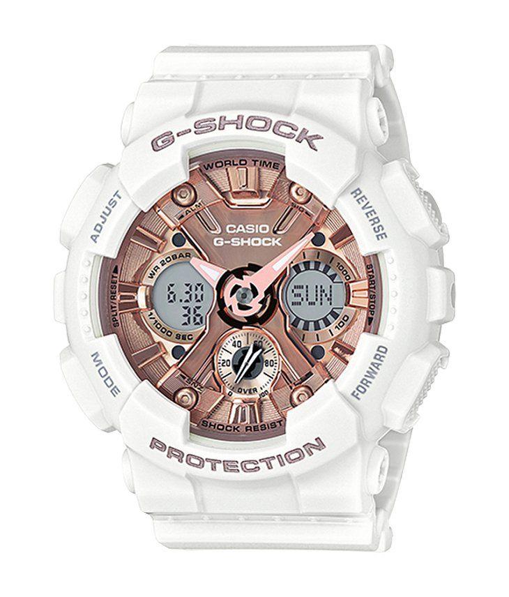 de612df9a42 G-Shock GMAS-120 Watch - Women s Watches in White Rose Gold