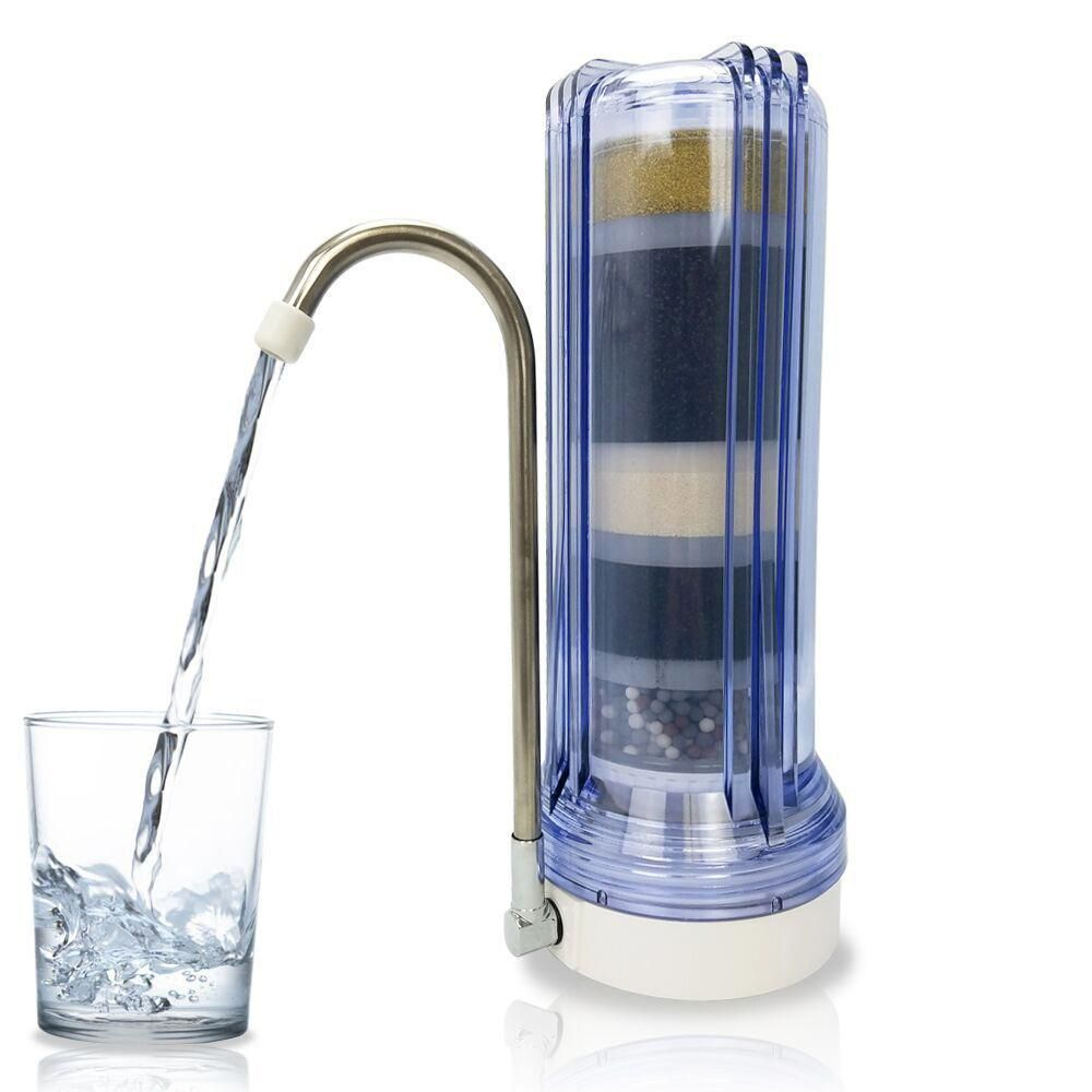 Matterhorn 10 Stage Mineralized Alkaline Countertop Filter In Clear Mct 8050cl Countertop Water Filter Filters Countertops