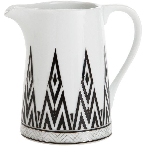 Amara Addison Creamer (43 CAD) ❤ liked on Polyvore featuring home, kitchen & dining, serveware, metallic and porcelain creamer