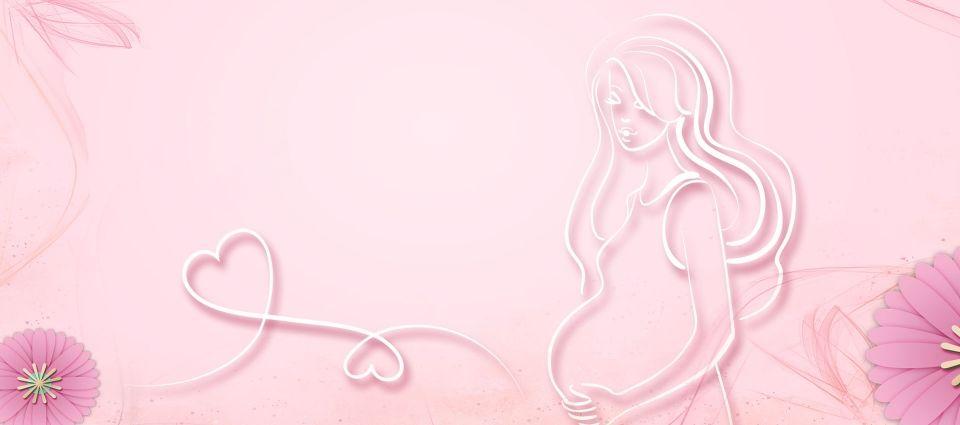 Mae E Bebe Mulher Gravida Rosa Banner Fundo Mae E Bebe Mulher Mother And Baby Mother And Baby Images Pink Background Images Background untuk bayi perempuan hd
