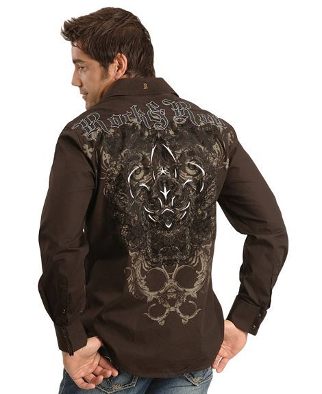 a9ffa99a593b Cross embroidered shirts for men | Rock & Roll Cowboy Cross Western Shirt -  Sheplers