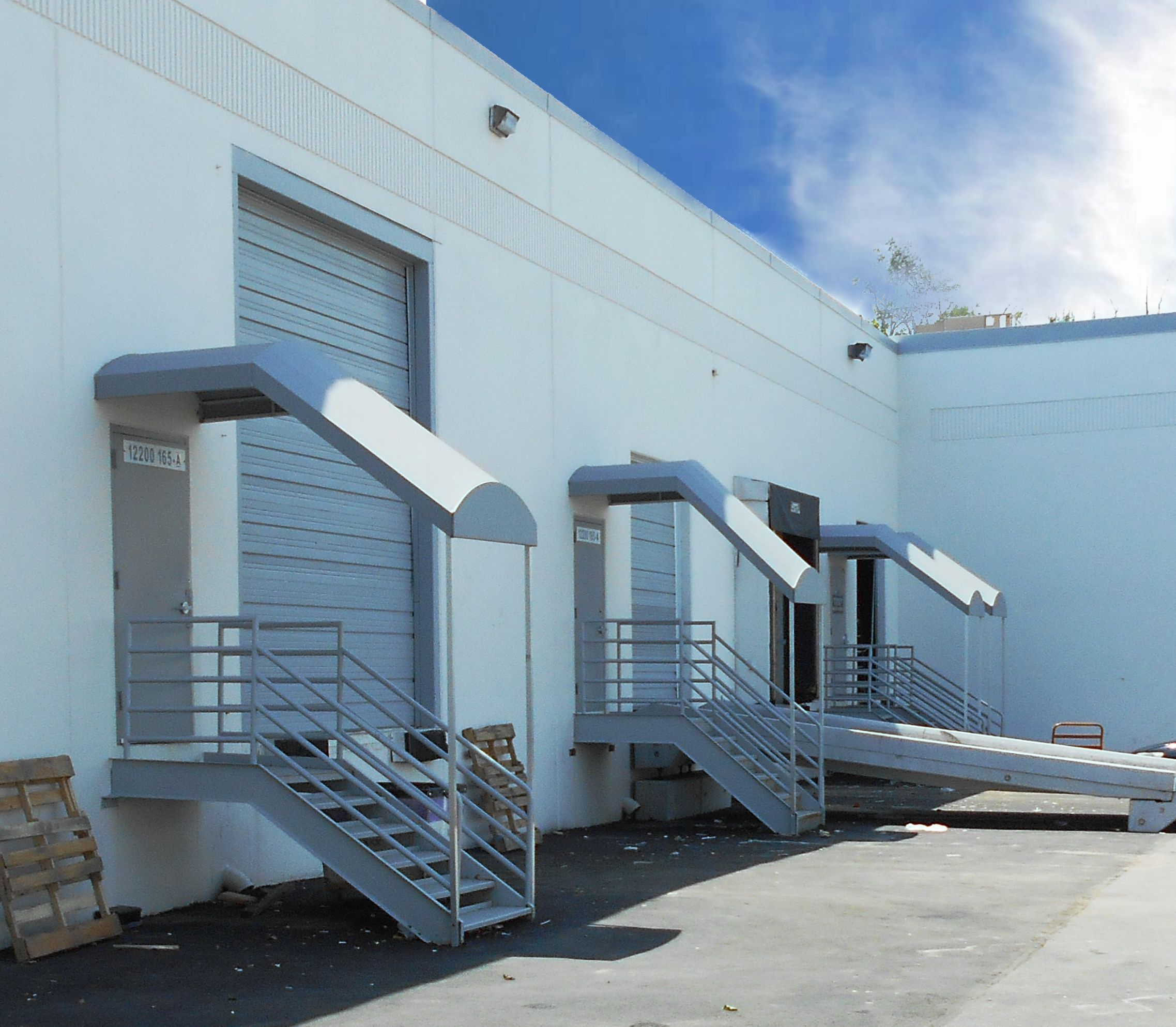 Stairway Awnings By Hoffman Awning Can Dress Up A Building While Adding Safety Factor As