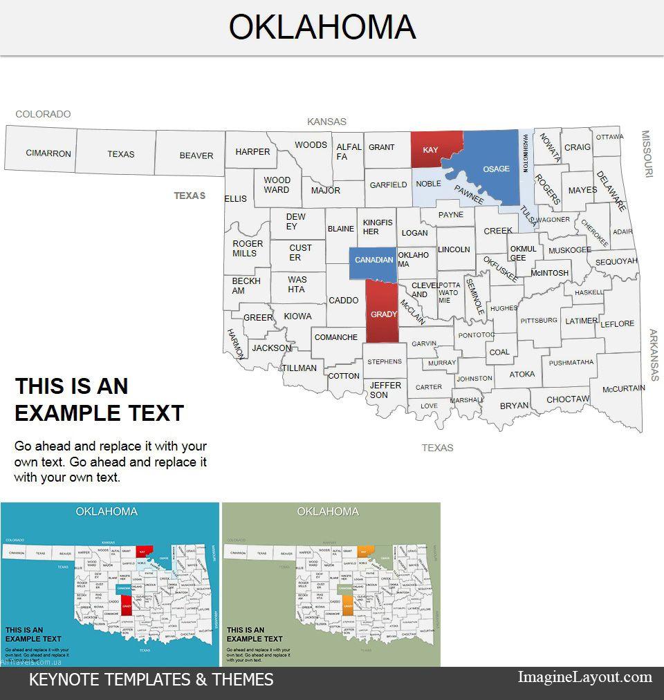 Oklahoma United States Keynote map Templates | Keynote Maps | Pinterest