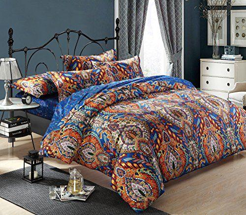 Cliab Moroccan Bedding Bohemian Bedding Sets Queen Egyptian Cotton Duvet Cover Set Cliab Duvet Cover Sets Queen Bedding Sets Moroccan Bed Duvet Covers Bohemian Cotton bedding sets queen