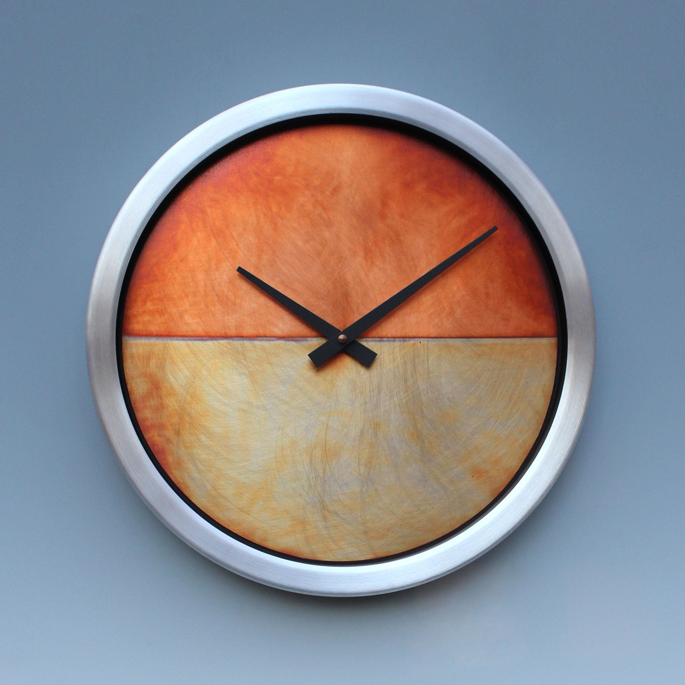 Nate Wall Clock By Leonie Lacouette Metal Clock Artful Home Wall Clock Metal Clock Clock