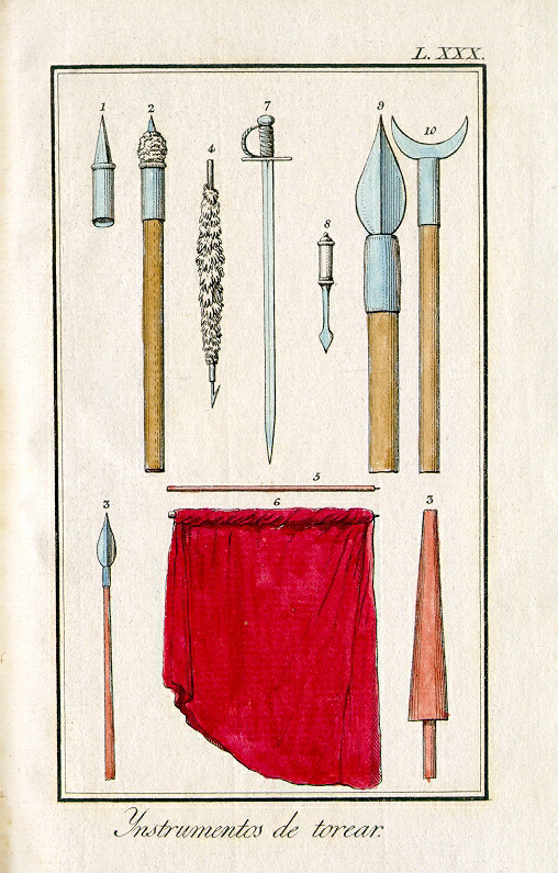 Delgado y Gálvez, José: Tauromaquia o arte de torear á caballo y á pie  Date1796