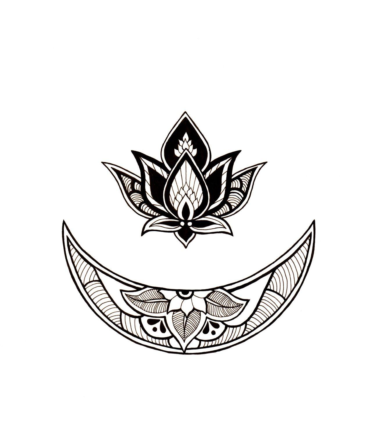 November Frost moon Boho tattoos, Ornate tattoo, Black