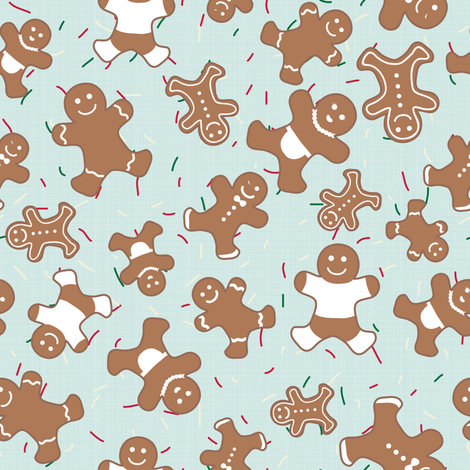 Gingerbread Cookies Fabric By Boeingbleu On Spoonflower