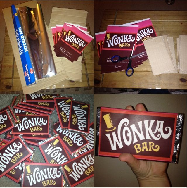 Normal sized wonka bars First i found a decent template of the