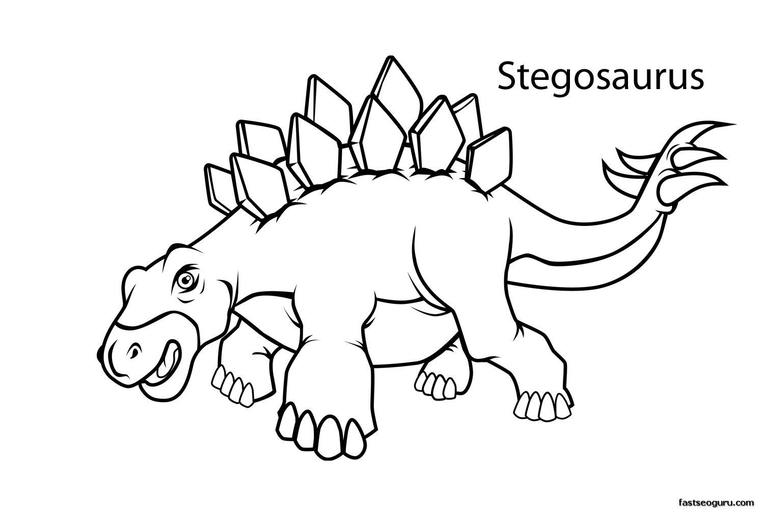 Printable Dinosaur Coloring Pages With Names | Dinosaur Party ...