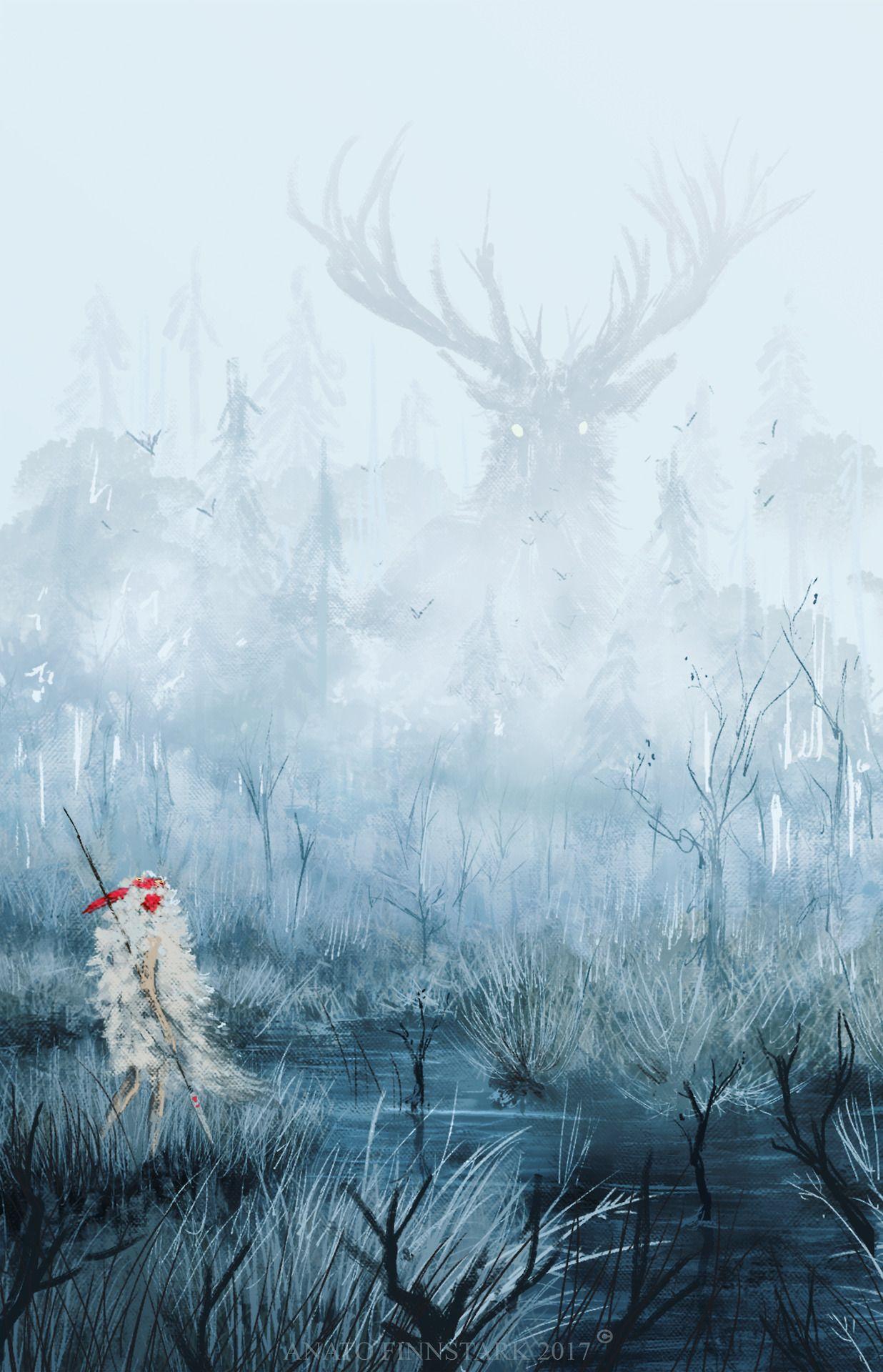 Anato Finnstark Illustrations Photo Princess Mononoke ジブリ イラスト 綺麗なイラスト 壁紙背景 壁紙 ジブリ