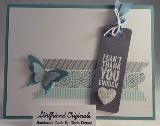 Stampin up all is calm washi tape card using chalk talk framelits