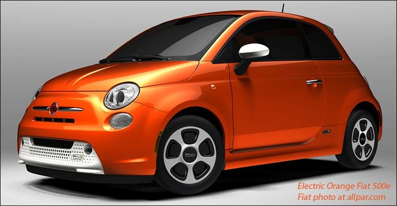 Electric Orange Car