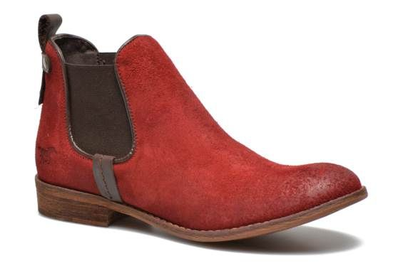 99e Mustang shoes Belrian (Rouge) Bottines et boots chez