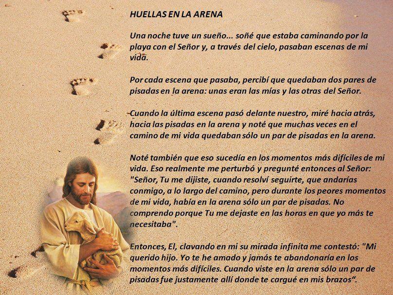 Mensajes De Amor Escritos En La Arena: Reflexion Huellas En La Arena