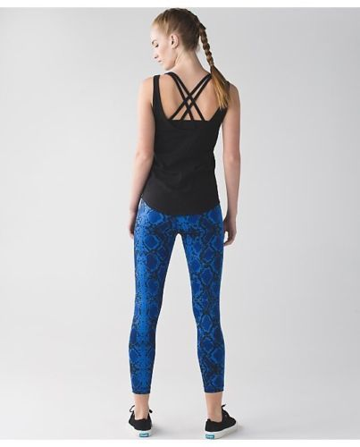 51d34a862 Details about NWT Lululemon High Times Pant Snake Skin Blue Minz ...