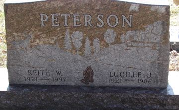 Keith W. Peterson (1921 - 1997) Lucille J. Peterson (1921 - 1986)